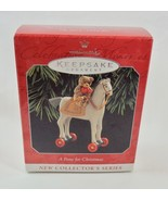 Hallmark 1998 A Pony For Christmas #1 Teddy Bear Ornament - $9.95