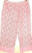 WOMEN'S WHITE PRINTED CROPPED SLEEP PANTS SIZE M - $4.00