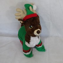 Build-A-Bear Christmas Reindeer Plush Stuffed Toy with Clothing 17 inch - $25.23