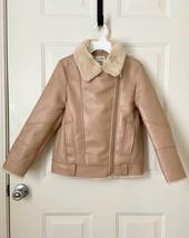 NWT ZARA Kids Double-Faced Faux Leather Biker Jacket 11 12 Fur Lined Coa... - $29.68