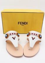 NIB Fendi Flowerland Studs Flat Thong Sandals New 9.5 39.5 - $325.00
