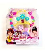 Disney Junior Fancy Nancy Tiara & Necklace 2pc Set Flowers & Hearts Mult... - $8.87