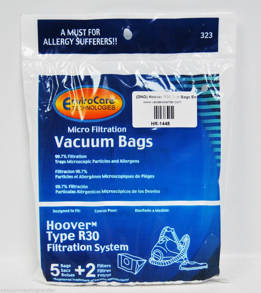 Hoover R30 Can VAC Sacchetti, Envirocare, 5 Sacchetti/2 Filtri