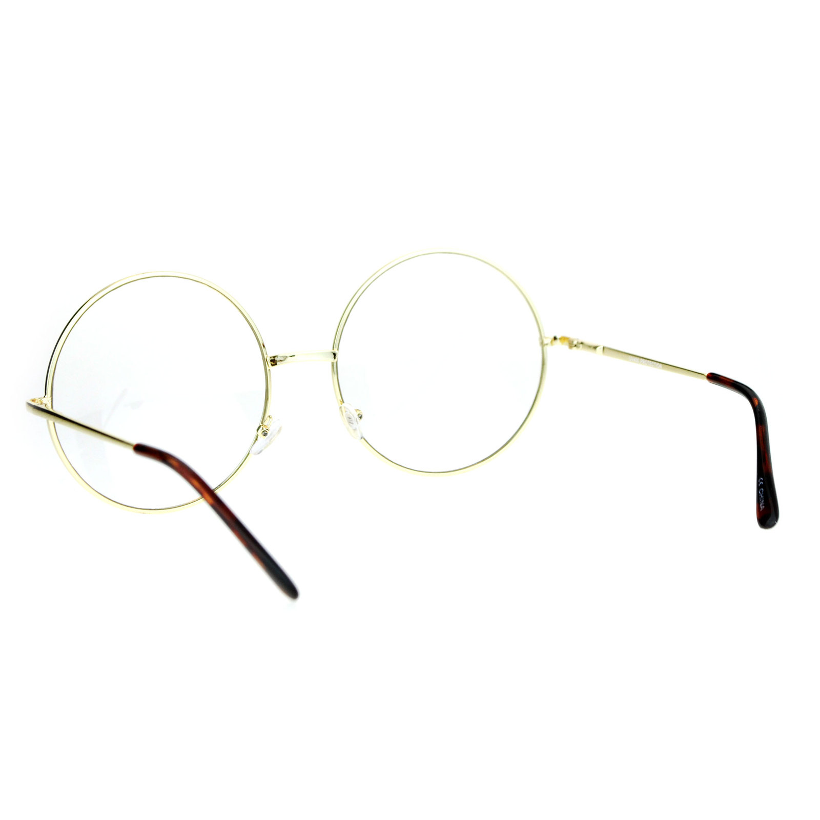 376a9a27f50ae ... SA106 Extra Large Round Circle Lens Hippie Groovy Womens Eye Glasses ...