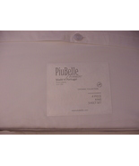 Piu Belle Premier Organic Collection Flat Hem White Cotton Sheet Set King - $118.00