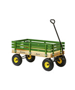 HEAVY DUTY GREEN WAGON 40x22 Bed Solid Steel Quality Cart Made in the USA - $313.57
