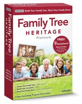 Individual Software Family Tree Heritage Platinum 9 PC NEW! - $19.79