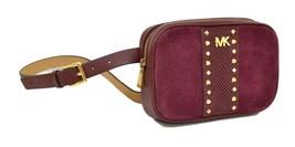 Michael Kors 16MM Studded Belt Bag Size Burgundy Leather Large/X-Large - $70.13