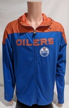 LZ Men's Size Large Reebok NHL Edmonton Oilers Full Zip Up Hoodie Sweats... - $18.72