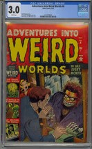 ADVENTURES INTO WEIRD WORLDS #6 CGC 3.0 PRE HERO ATLAS HORROR WHITE PAGES - $386.99