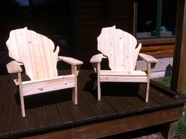 Set of Two Wisconsin Cedar Adirondack Chairs - $269.00