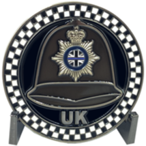 "2.75"" ENGLAND GREAT BRITAIN UNITED KINGDOM POLICE BOBBY HELMET CHALLENGE... - $28.49"