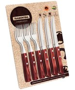 Tramontina 12-pieces Barbecue Set 6 Knives 6 Forks - $40.12