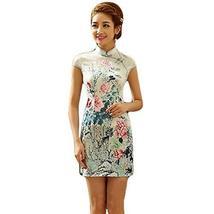 PANDA SUPERSTORE Fashion Chinese Style Cheongsam Elegant Retro Cheongsam A (Larg