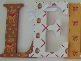 Winnie The Pooh Inspired Wood Letters-Nursery Decor- Price Per Letter- C... - $12.50