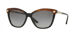 Versace Lunettes de Soleil Mod: 4313 5180/11 Noir / Havane / or Méduse W / Gris - $195.94
