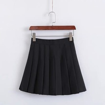 Girls Pleated School Style Skirt Short A-line Pleated Skirt, Red, Pink(US0-US16) image 4