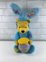 WINNIE THE POOH BEAR With Bunny Ears Talking Plush Toy Applause NWT - $24.95