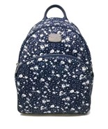 Michael Kors Abbey Backpack Large Navy Blue White Floral NWT $278 - $129.18