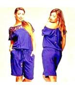 Women Sexy Lace Romper Loose Button Shorts BasicNeck Elastic Waist Short... - $10.88