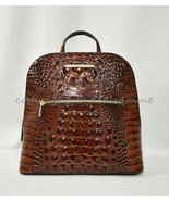 NWT Brahmin Felicity Embossed Leather Backpack in Pecan Melbourne - $269.00