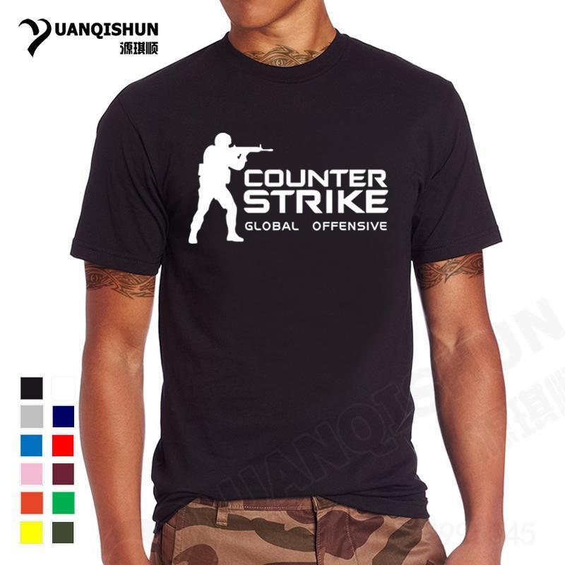 Yuanqishun brand tee cs go t shirt counter strike global for Name brand t shirts on sale