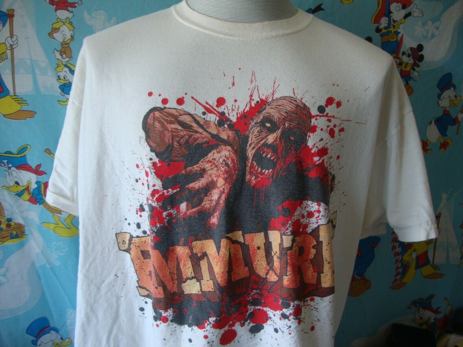 Primary image for Vintage Emmure Zombie Heavy Metal Hardcore Band tour T Shirt 2XL