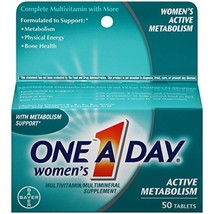 One-A-Day Womens Active Metabolism Complete Multivitamin Tablets, 50 count