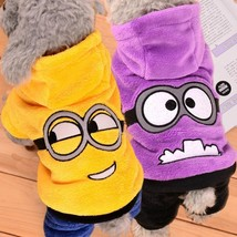 Funny Pet Dog Clothes Warm Fleece Costume Soft Puppy Coat Outfit For Dog... - $14.01+