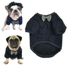 Meioro Chien Bow cravate chandail Vêtements pour animaux de compagnie Ve... - $25.21