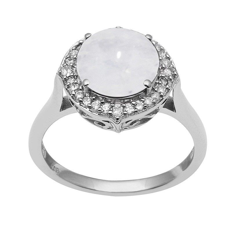 Lovely Rainbow Moonstone 925 Sterling Silver Ring Shine Jewelry Size-7 SHRI1463