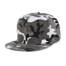 Camouflage Snapback Cap Men Blank Flat Camo Baseball Cap Tactical Hip-ho... - £7.60 GBP