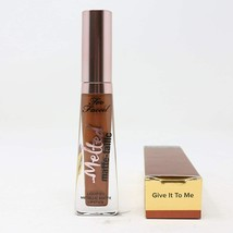 Too Faced Melted Matte-tallic Liquified Metallic Matte Lipstick GIVE IT ... - $18.81
