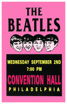 The Beatles Concert poster 1964 Convention Hall Philadelphia - Ships FREE - $12.50