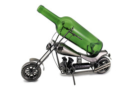 Wine Bodies Harley Davidson Retro Motorcycle Metal Wine Bottle Holder - $27.83