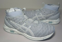 Asics Size 10 HYPERGEL KAN Glacier Grey Knit Running Sneakers New Womens... - $158.40