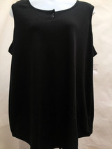 New LBW Plus Size 4X Top Black Knit Stretch Sleeveless - $17.62