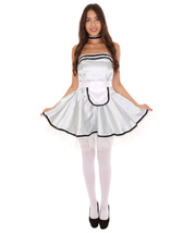 Adult Women's French Maid Uniform Costume   Silver Cosplay Costume - $23.85