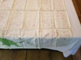 """Rare Vintage 36""""x26"""" Two Sided Western Pacific Cloth Nautical Map Asia China image 9"""