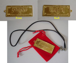 Saints Row 2 Limited Promo gold Pendant Necklace Medallion Gamescom Esxc... - $14.84