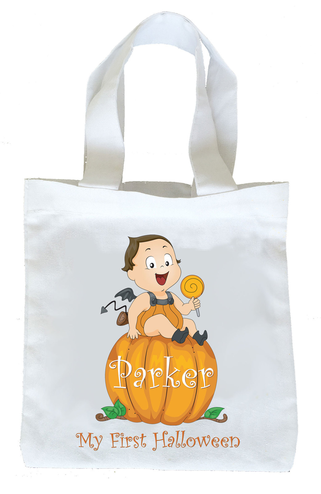 First Halloween Trick or Treat Bag, Boys First Halloween Bag, Boys Candy Bag