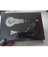 "Light bulb shaped Bookmark & Key ring set ""The power of Light"" - $7.95"