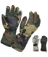 Insulated Thermal Tactical Winter Gloves Cold Weather Long Cuff Ski Camo... - $14.99