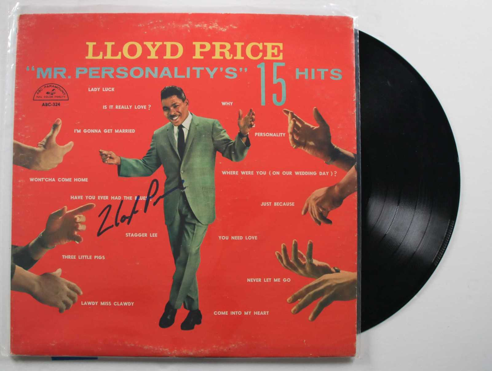 "Primary image for Lloyd Price Signed Autographed ""Mr. Personality"" Record Album"