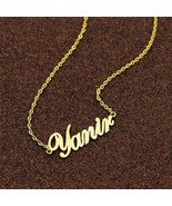 Name personalized necklace Canada Handmade Nameplate Pendant USA Persona... - $34.99