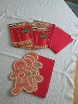 Christmas Cards 28 Gingerbread Man Holiday Drum Red Envelopes American G... - $16.50