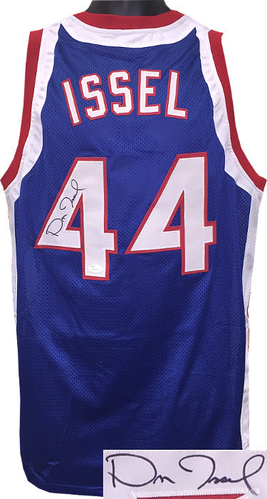 Dan Issel signed Blue TB Custom Stitched Basketball Jersey XL- JSA Witnessed Hol
