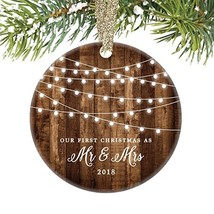 First Christmas as Mr & Mrs Ornament 2019 Rustic 1st Year Married Newlyw... - $16.27