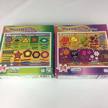 2 Puzzle Bug Learning Puzzles Shapes & Colors 24 Piece Puzzles New- see ... - $12.19