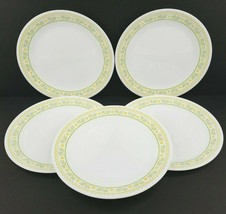 "5 Corelle Sunshine 10 1/4"" Dinner Plates Corelle Vintage Green Yellow Flower Lot - $49.17"
